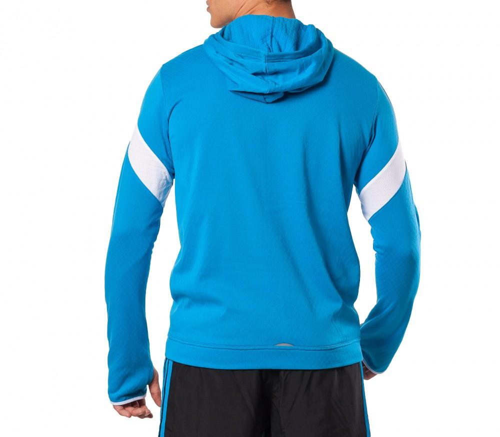 adidas response icon hoodie herren blau im online shop. Black Bedroom Furniture Sets. Home Design Ideas