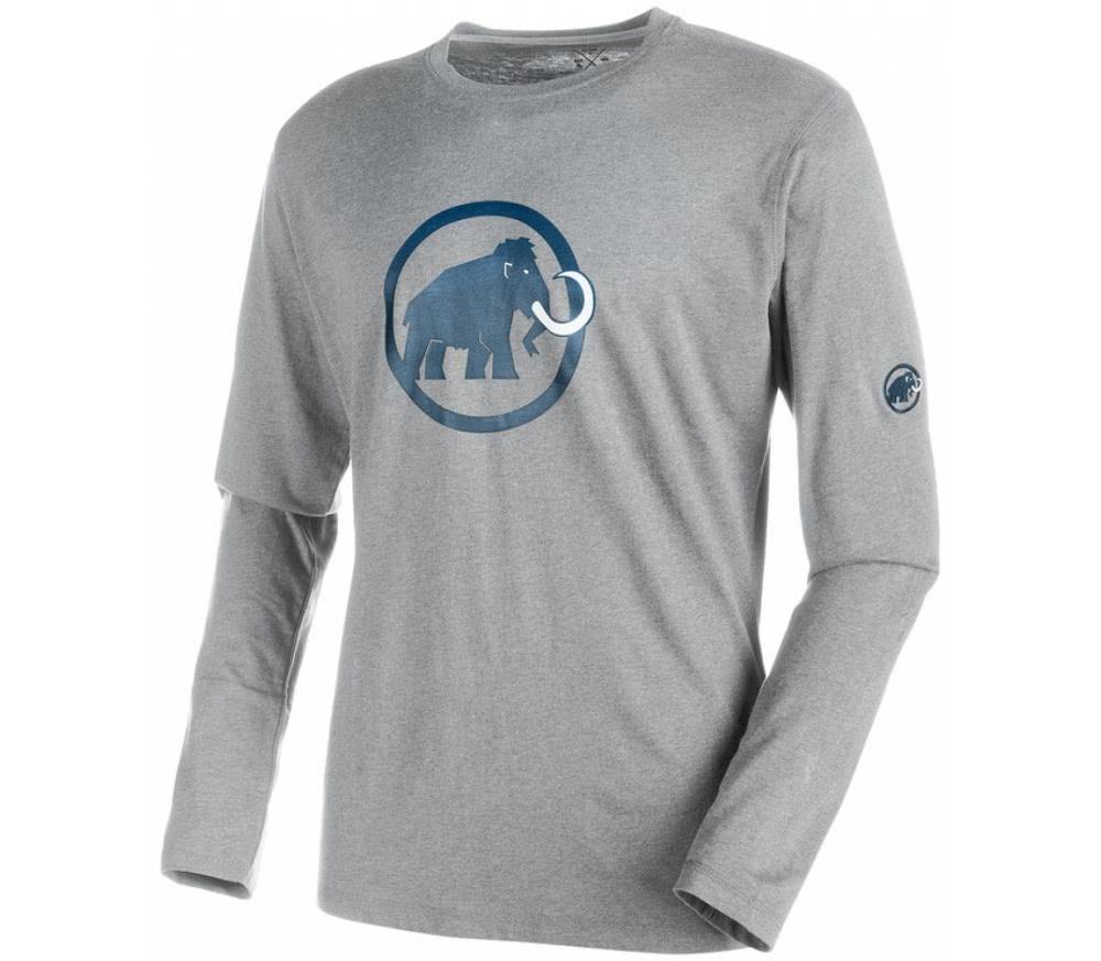 mammut logo longsleeve herren shirt grau dunkelblau im. Black Bedroom Furniture Sets. Home Design Ideas